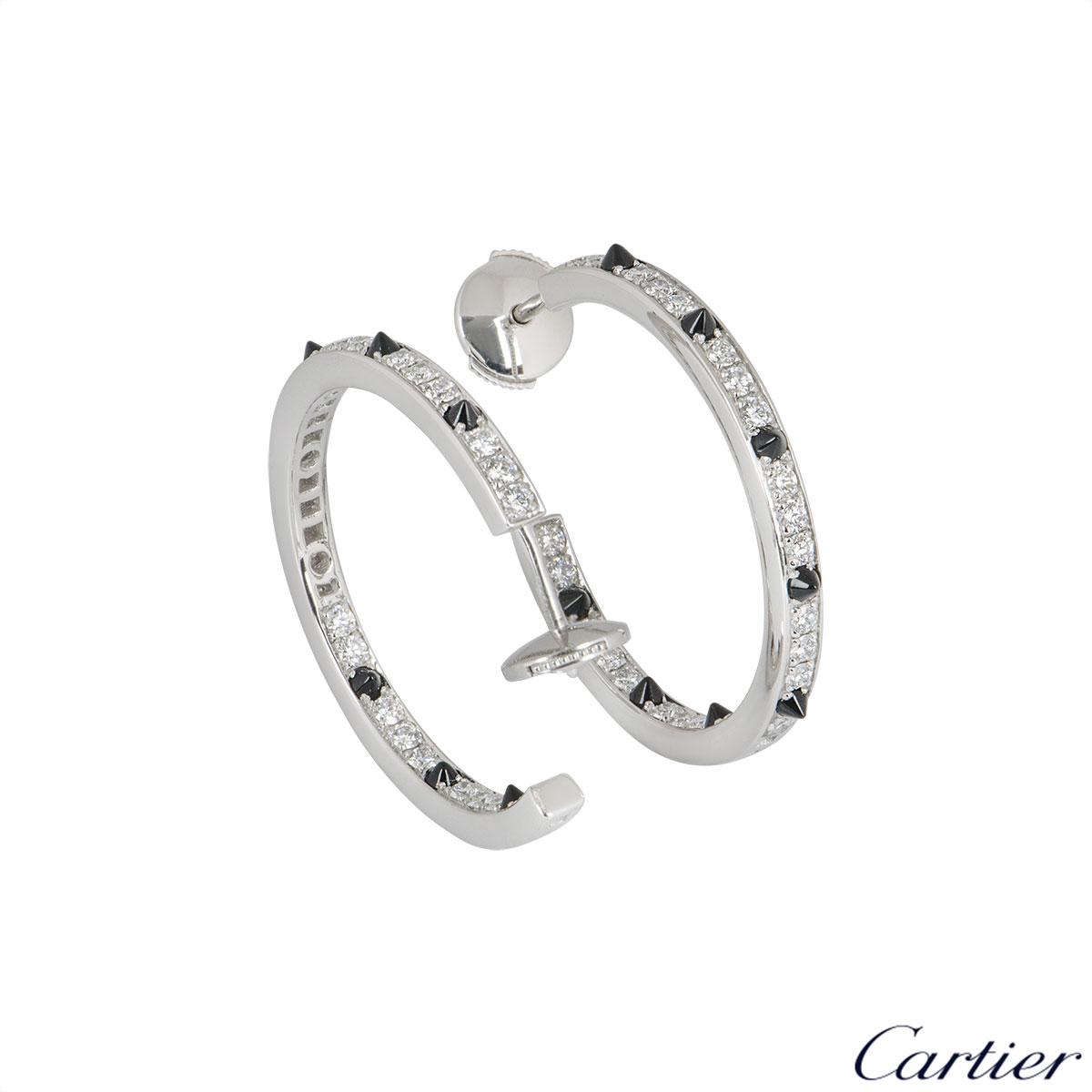 Cartier White Gold Panthere De Cartier Earrings